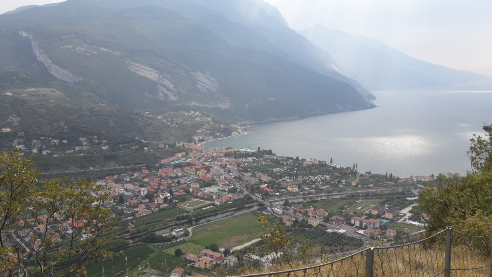 Beautiful view over the former fisher village from the Monte Brione.